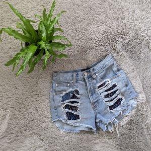 MINKPINK Slasher Shorts XS